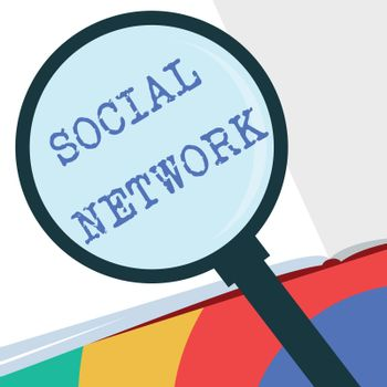 Text sign showing Social Network. Conceptual photo Interactions Sharing Information Interpersonal relationship