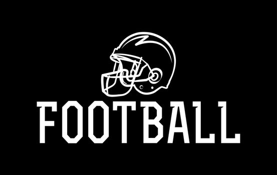 An American football helmet icon illustration. Vector EPS 10 available.