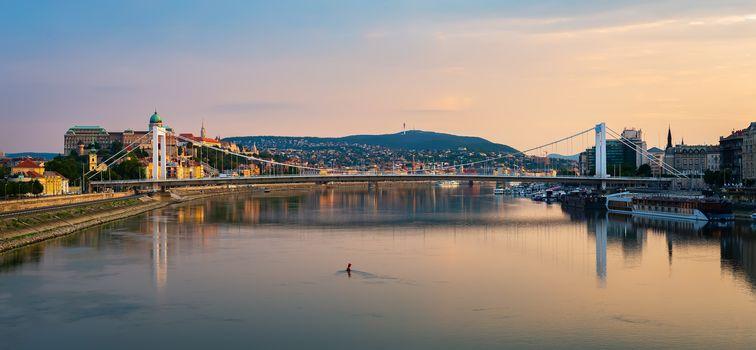Elizabeth bridge on Danube