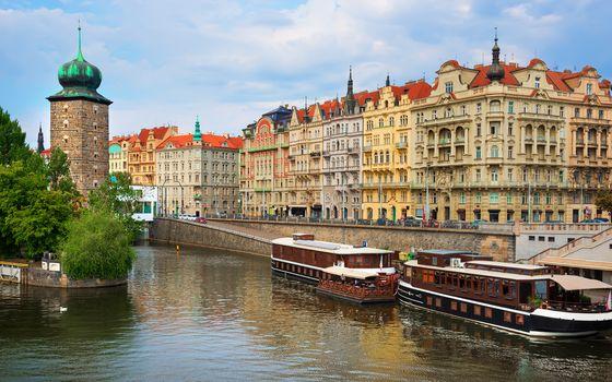 Embankment in Prague