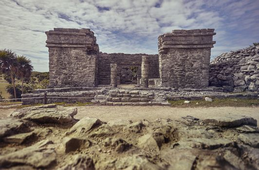 What remains of the Mayan construction