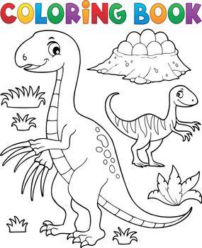 Coloring book dinosaur subject image 3