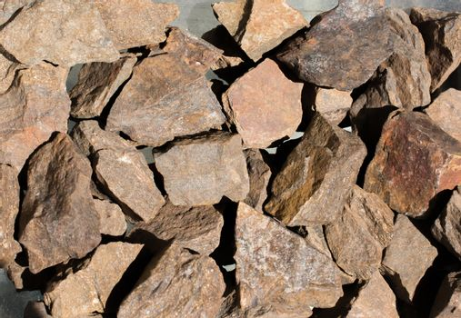 Bronzite gemstone as natural mineral rock specimen