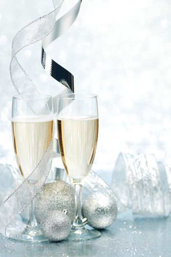 Champagne and decor