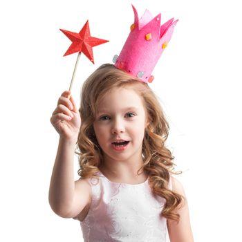 Candy princess girl with magic wand