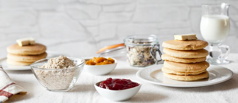 Pancakes For Breakfast Panorama