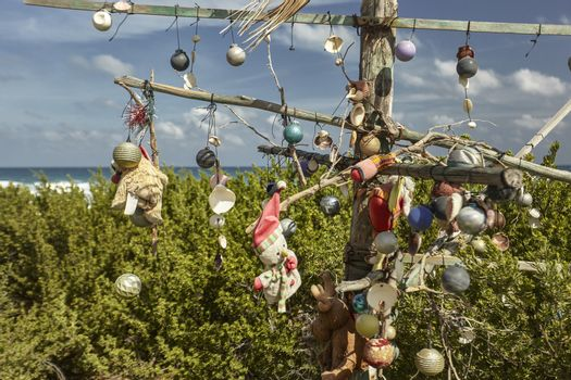 Christmas decorations in poverty