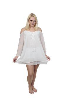 Beautiful woman wearing a nighty or lingerie