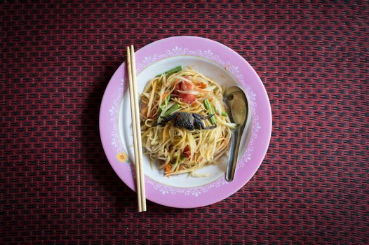 somtum food style of Thailand