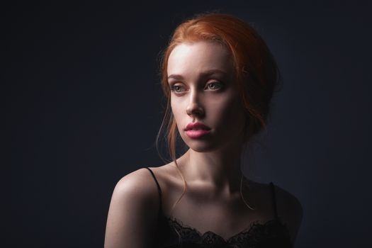 Beautiful face of young adult woman