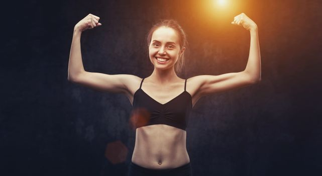 woman doing sports exercises