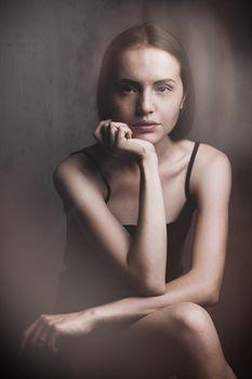 stylized retro woman portrait