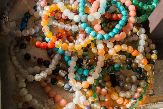 Beautiful colorful  beads of bracelet of various type and color