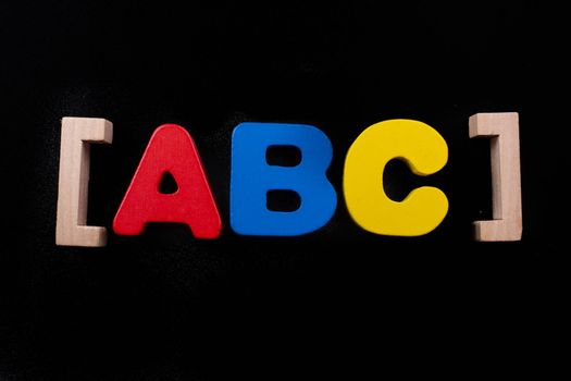 Colorful ABC Letters of Alphabet made of wood