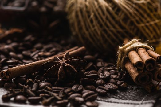 Coffee Beans with Condiment