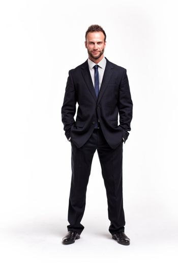 Businessman over a white background