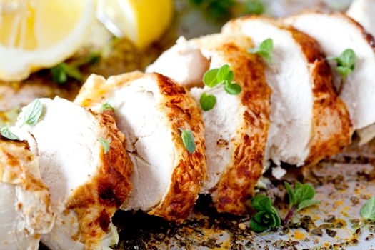 Slices Of Spicy Chicken Fillet