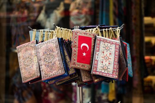 Traditional style handmade woven bags of fabric