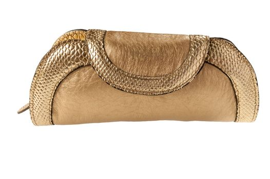 clutch bag isolated on white background