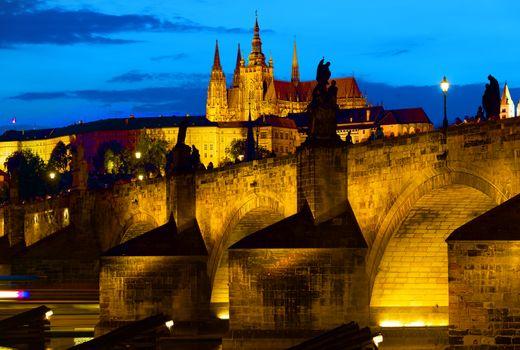 Prague gothic bridge
