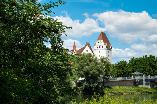 Image of bank of Danube with castle in Ingolstadt