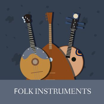 strings musical instruments .Vector .background concept design