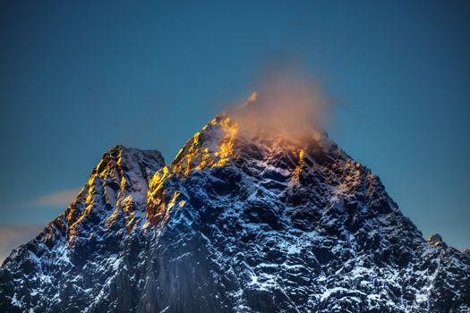 Gorgeous high mountain, Norway
