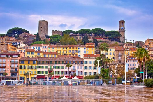 Old town of Cannes on French riviera architecture view, Alpes-Maritimes department of France