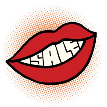 pop art mouth sale