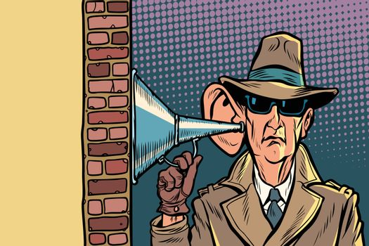 spy or secret agent of the state, wiretapping and surveillance