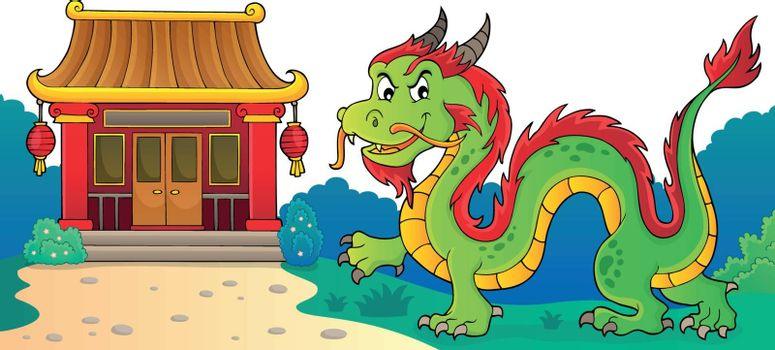 Chinese dragon theme image 3 - eps10 vector illustration.