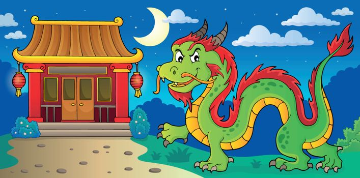 Chinese dragon theme image 4 - eps10 vector illustration.