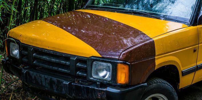 car bumper of a off road jeep, safari vehicle background
