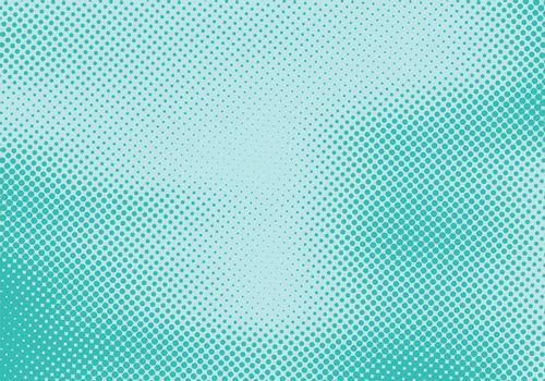 Abstract dots stripe halftone effect on green turquoise background and texture. Retro 80's style color. Vector illustration