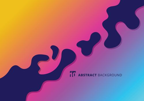 Abstract bright splashes in minimal flat style. Modern wavy shapes background with copy space. Vector illustration