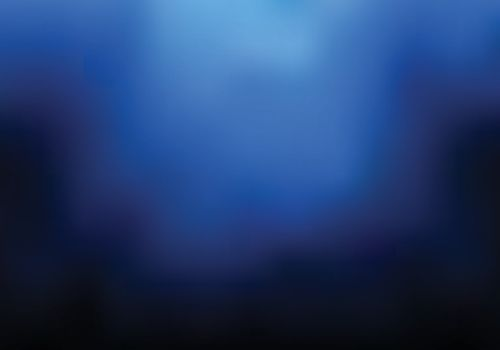 Abstract dark blue blurred background with smoke and copy space. Nightclub space. Vector illustration