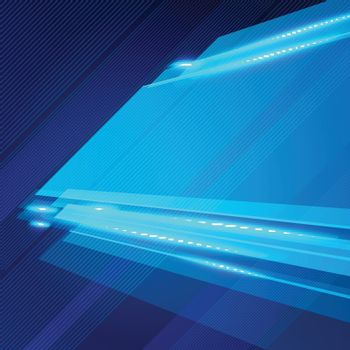 Abstract technology geometric blue color shiny motion background
