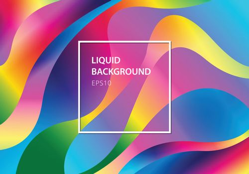 Abstract liquid colorful modern style rainbow background. Vector illustration
