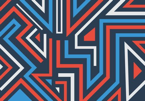 Abstract graffiti geometric shapes and lines pattern background. Vector illustration