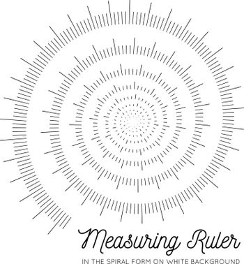 Measuring rulers In the form of a spiral. Geometric vector design illustration on white