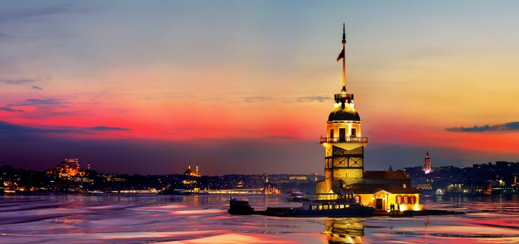 Maiden Tower Reflection
