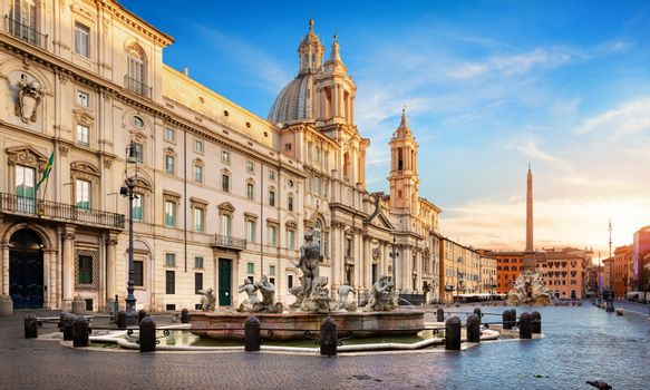 Piazza Navona and Fountain