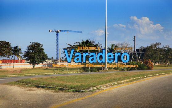 Welcome Sign on Varadero, Cuba