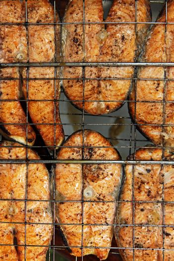 Salmon a grill