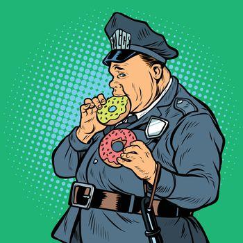 cop eats donut