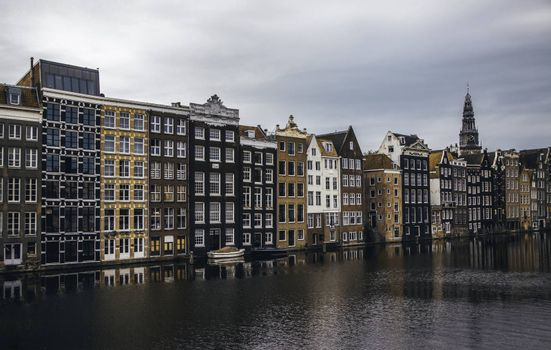 AMSTERDAM, NETHERLAND - SEPTEMBER 06, 2018, Central station building. The building of the Central station is one of the architectural attractions of the city, Netherland on September 06, 2018