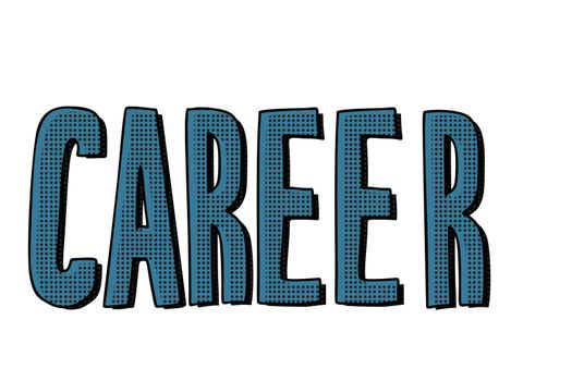 career lettering text