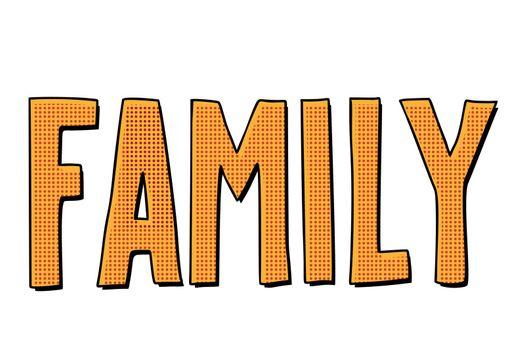 family text inscription