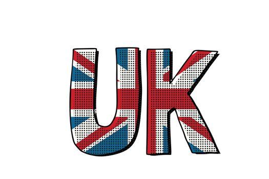 UK word flag
