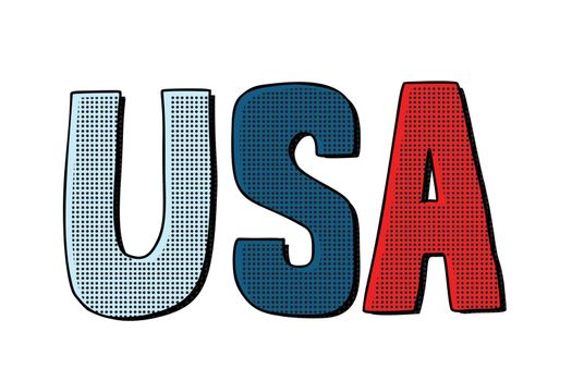usa word letters. United States of America